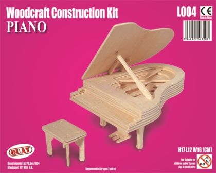 Woodcraft Construction Kit - Piano